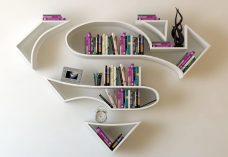 Les étagères des superhéros selon f