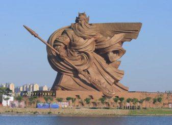 Cette statue d'un guerrier chinois f
