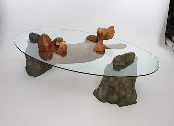 Ces tables originales donnent l'impression 02