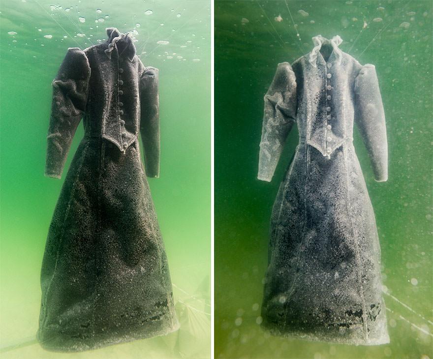 Un artiste laisse une robe 03