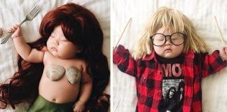 Un bébé assoupi ignore totalement f