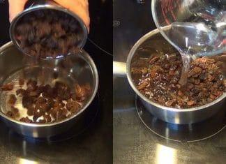 Boire de l'eau de raisins f