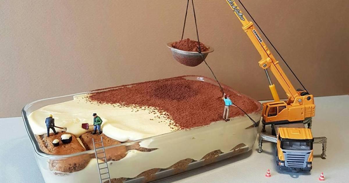 un chef p 226 tissier italien cr 233 233 des sc 232 nes miniatures en desserts