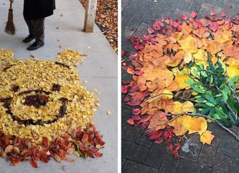 Les feuilles mortes rendent les f