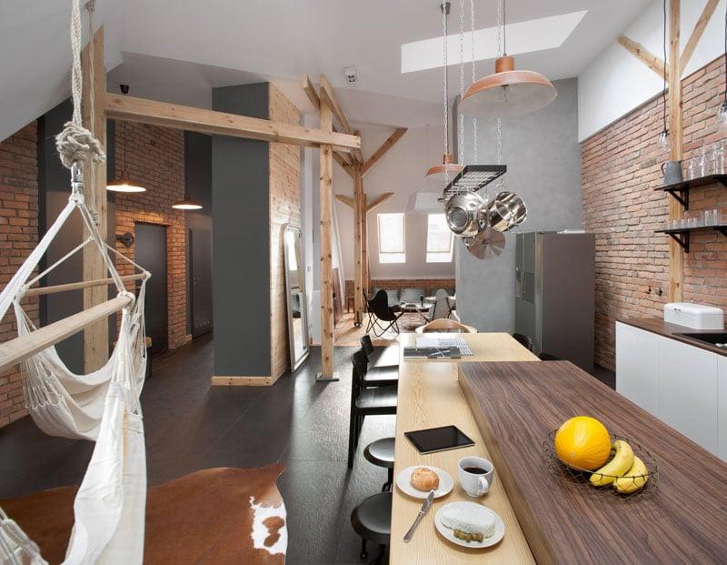 Cet appartement contemporain de type 01s