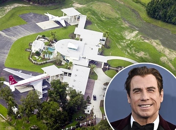 10 superbes maisons de c l brit s que nous aimerions tous for Maison john travolta